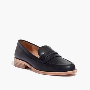Madewell loafer black leather elinor slip on sz:9